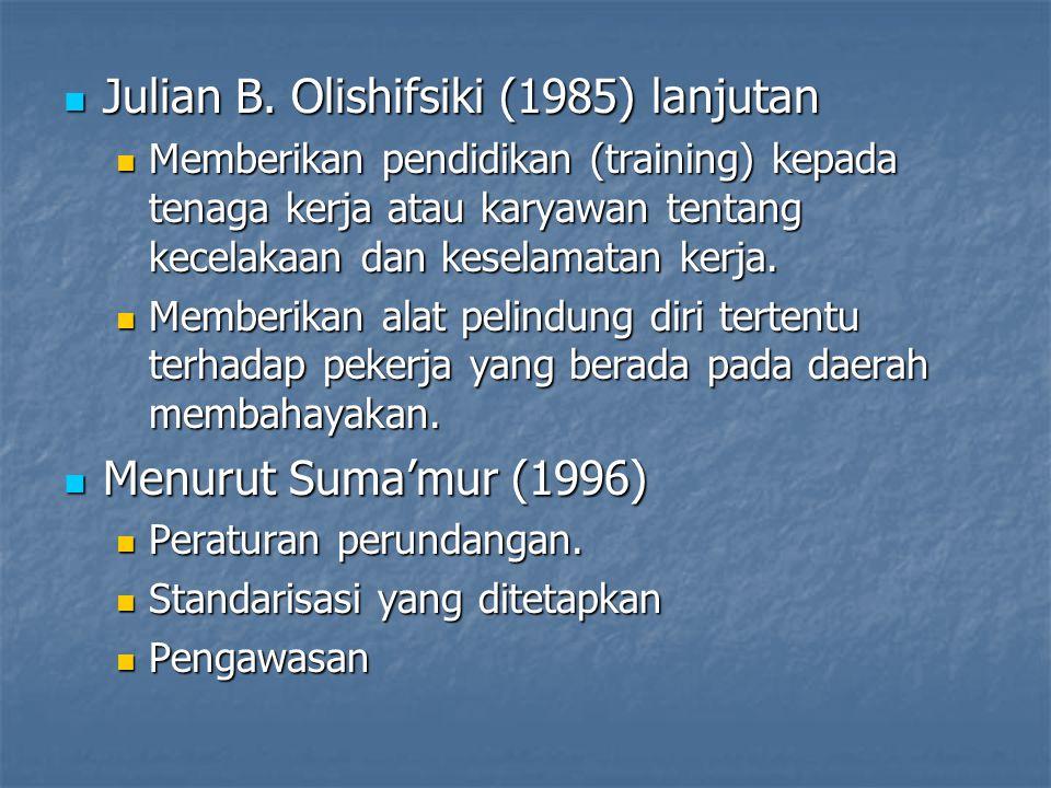 Julian B. Olishifsiki (1985) lanjutan