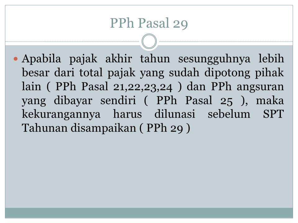 PPh Pasal 29