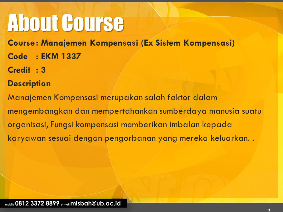 About Course