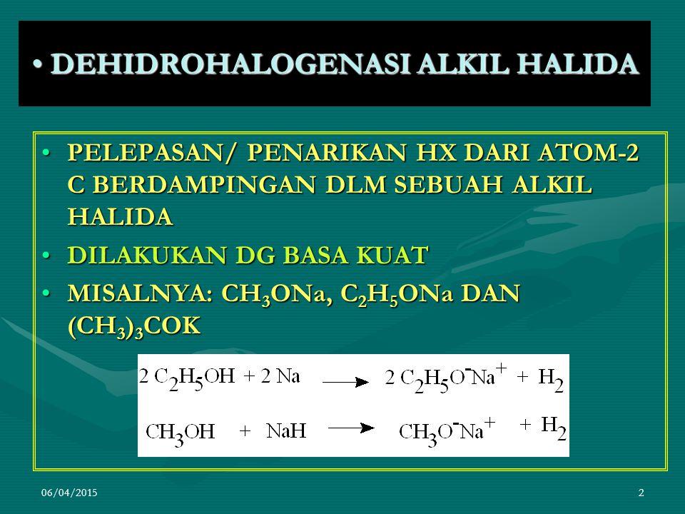 DEHIDROHALOGENASI ALKIL HALIDA