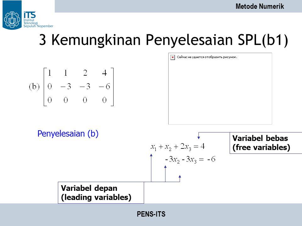3 Kemungkinan Penyelesaian SPL(b1)