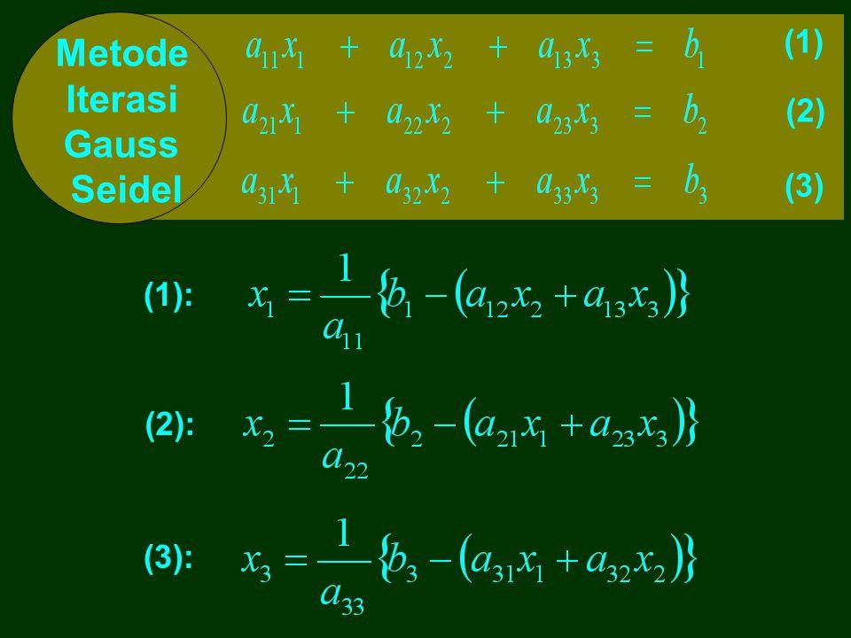 Metode Iterasi Gauss Seidel