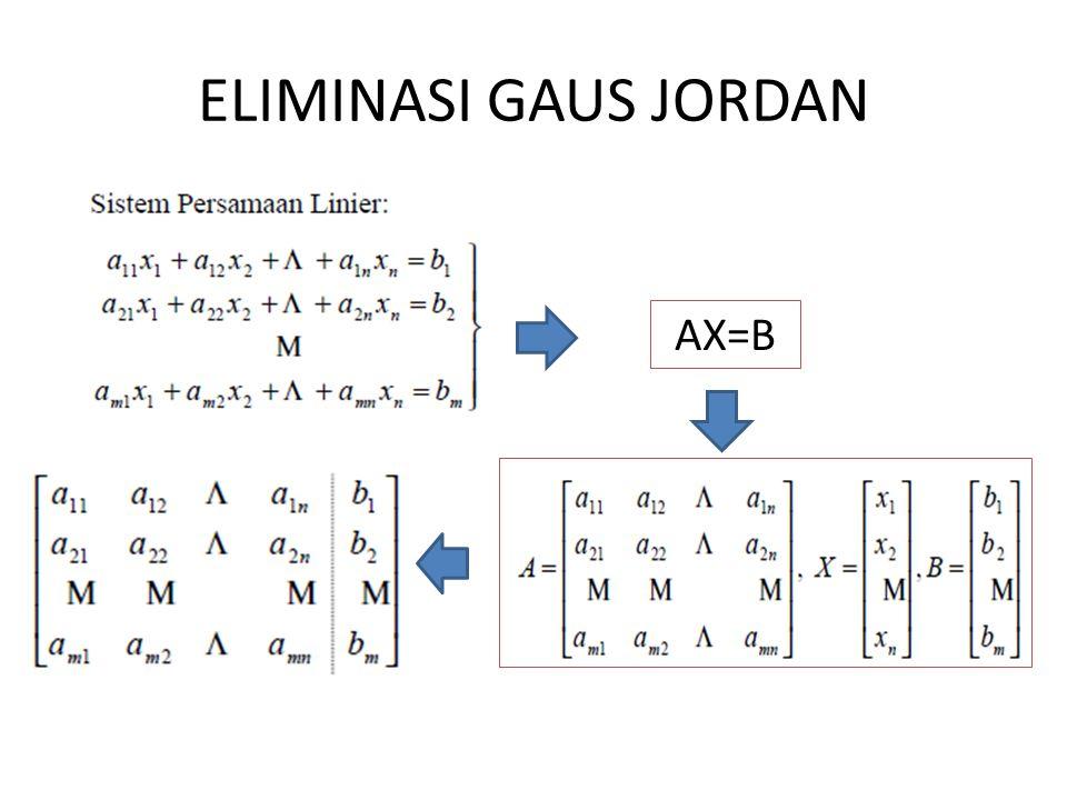 ELIMINASI GAUS JORDAN AX=B
