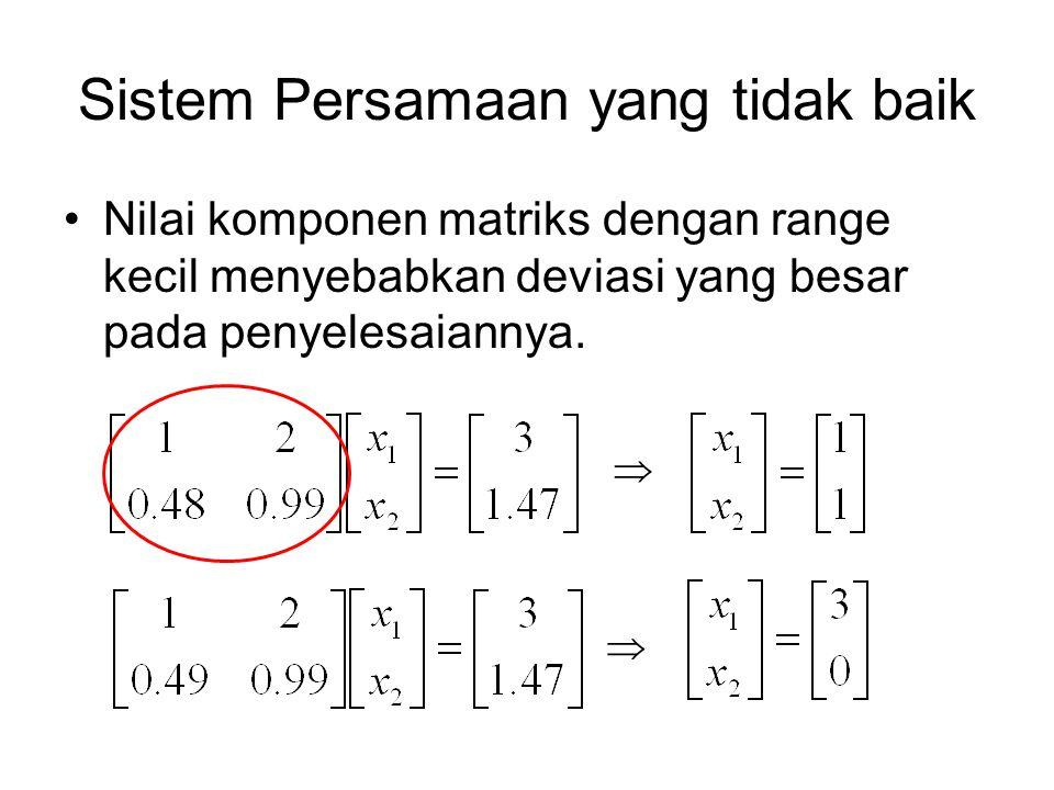 Sistem Persamaan yang tidak baik