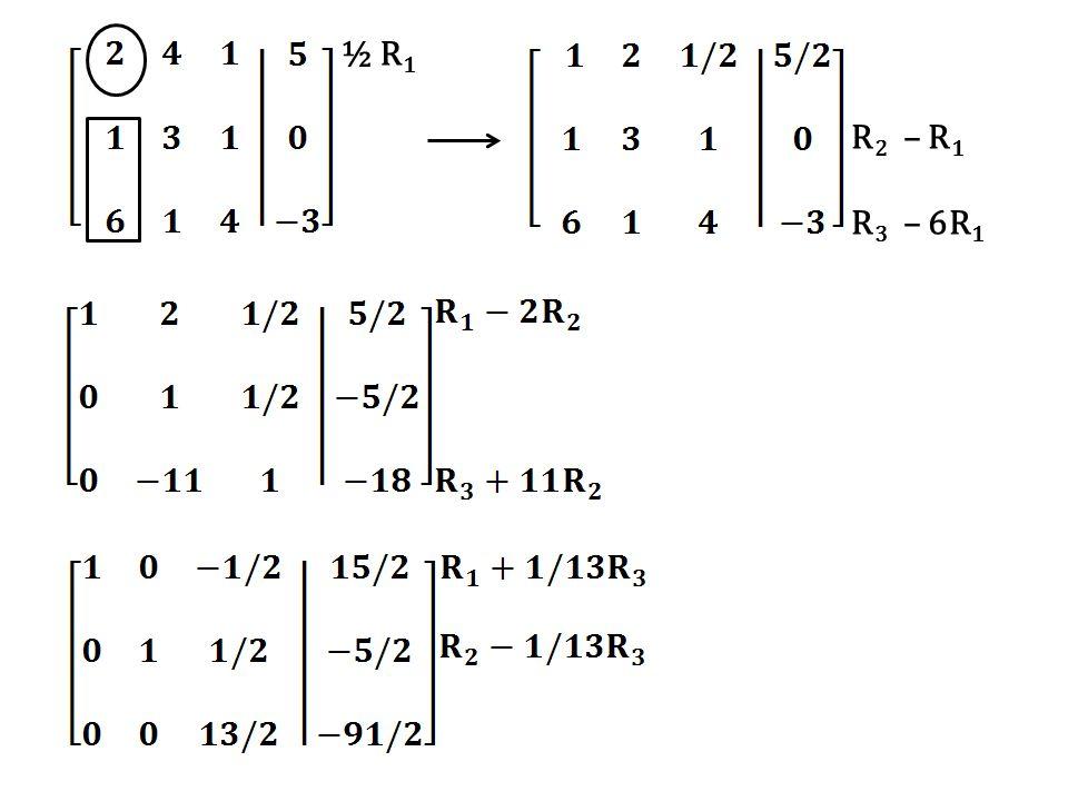 ½ R1 R2 – R1 R3 – 6R1