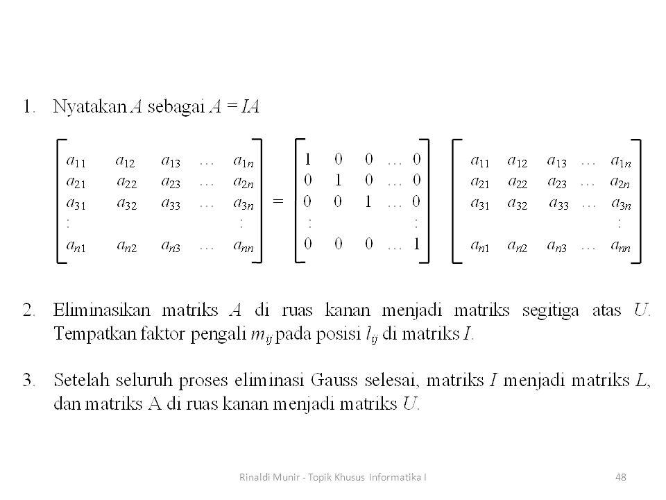 Rinaldi Munir - Topik Khusus Informatika I