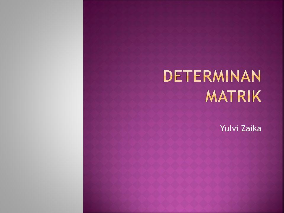 DETERMINAN MATRIK Yulvi Zaika