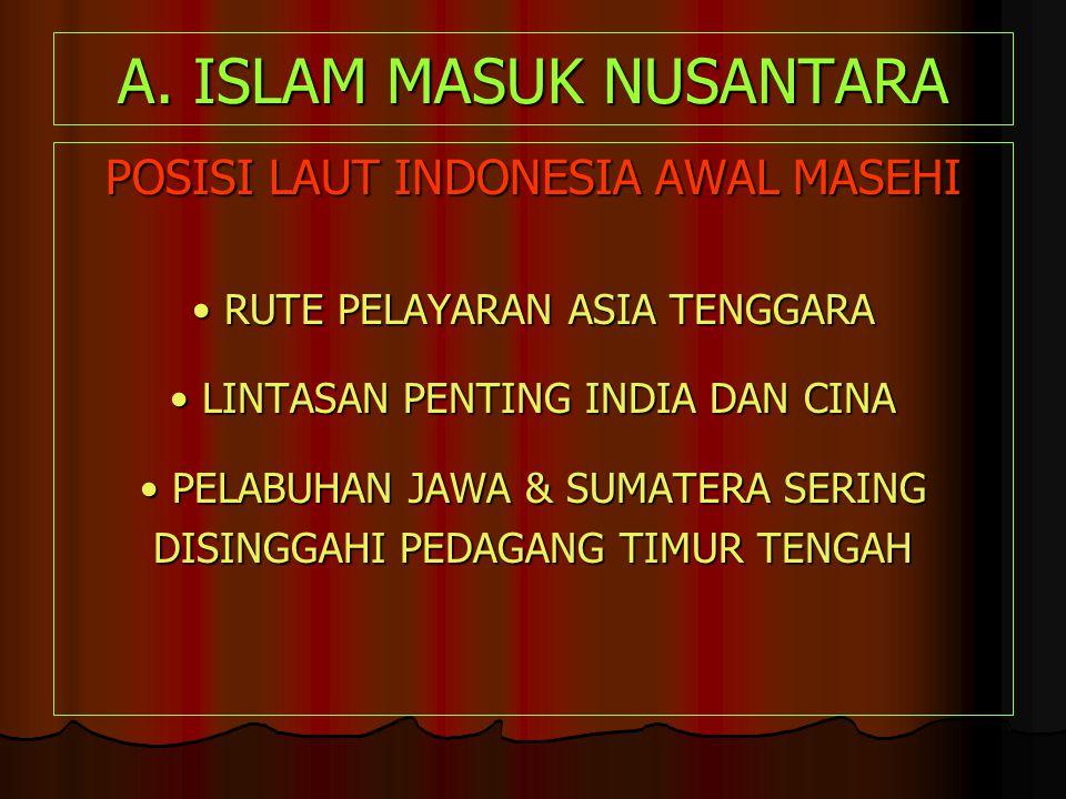 A. ISLAM MASUK NUSANTARA