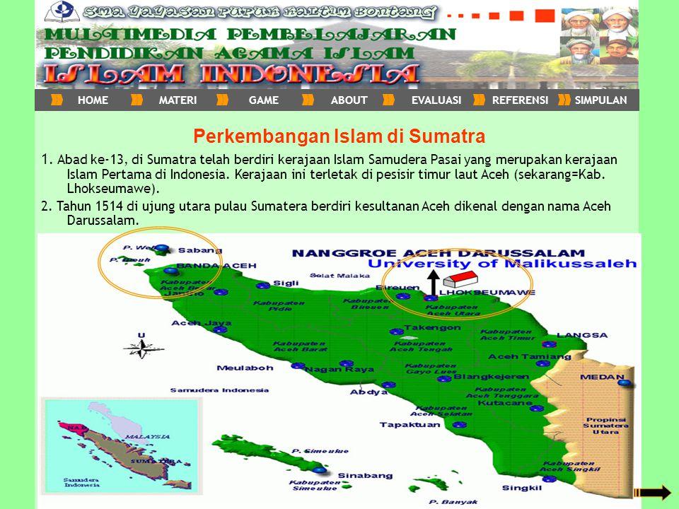 Perkembangan Islam di Sumatra