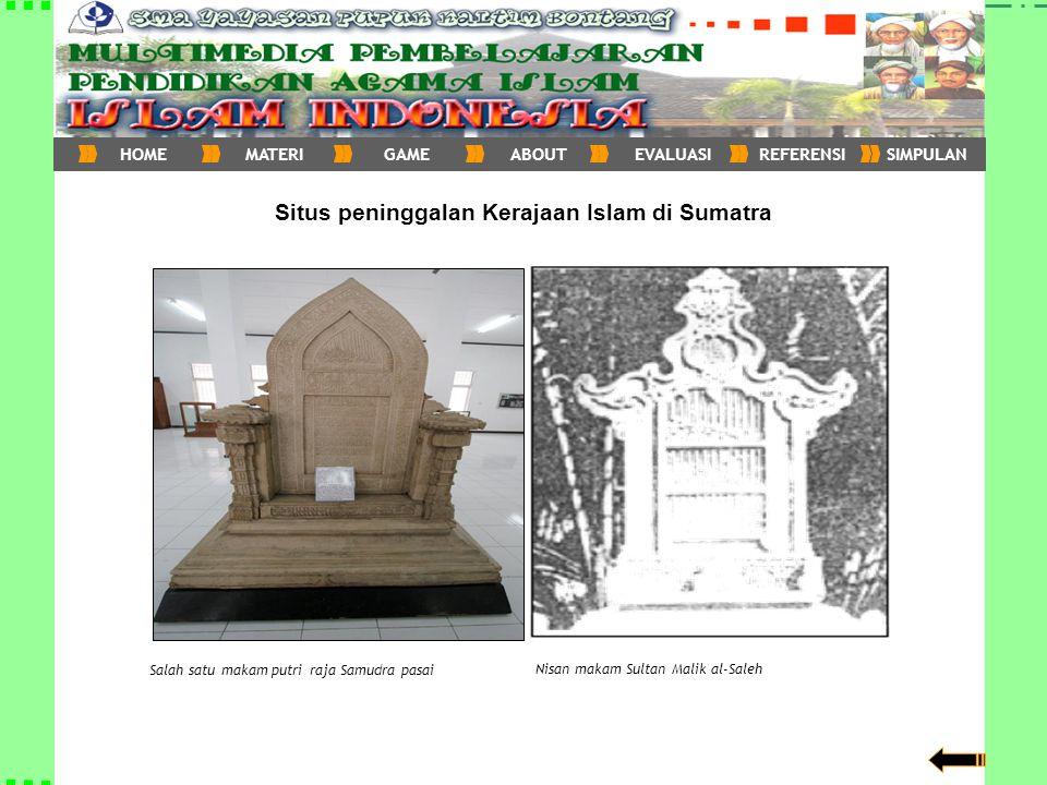 Situs peninggalan Kerajaan Islam di Sumatra