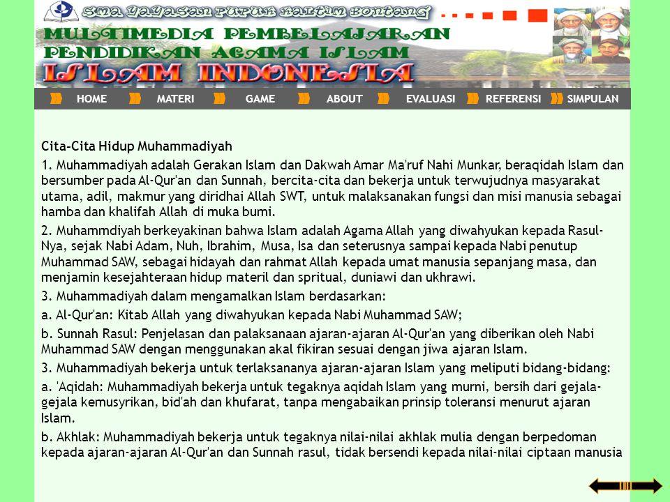 Cita-Cita Hidup Muhammadiyah