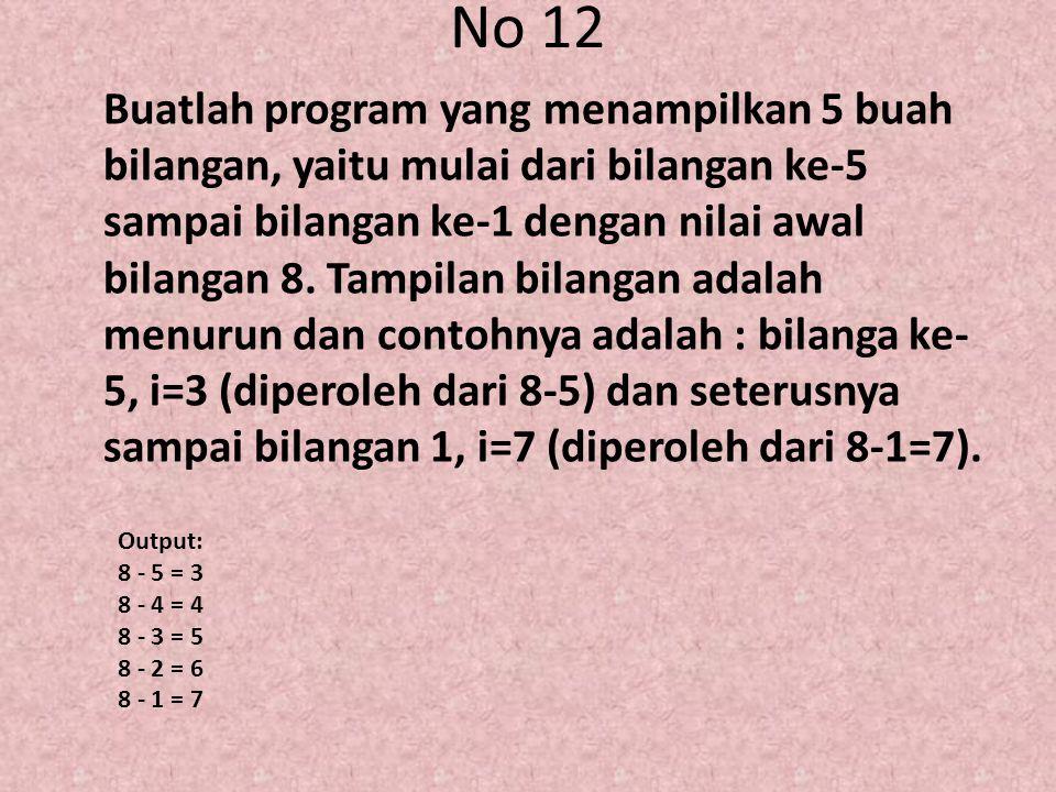 No 12