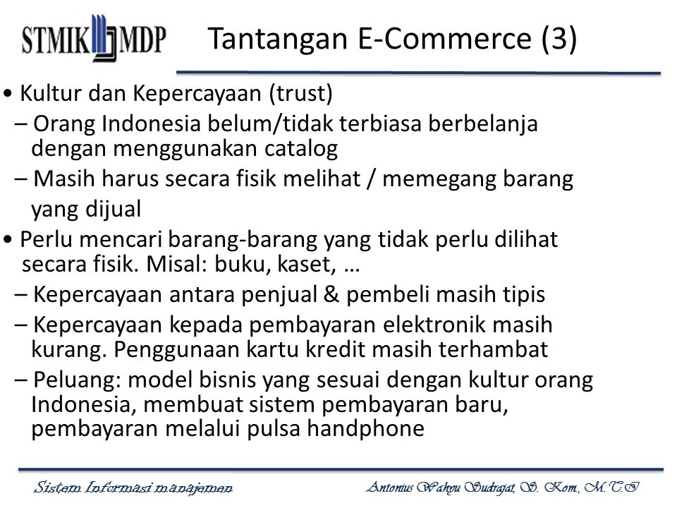 Tantangan E-Commerce (3)
