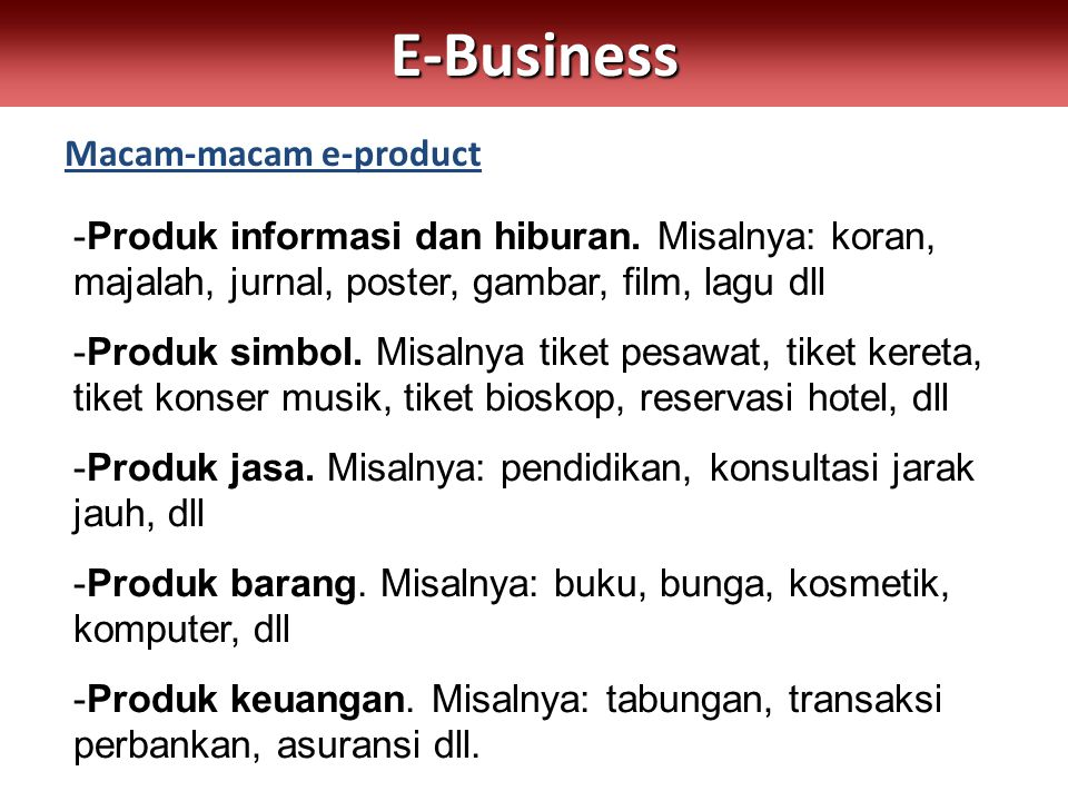 Macam-macam e-product