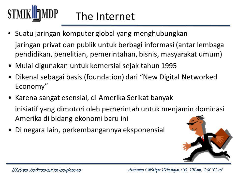 The Internet Suatu jaringan komputer global yang menghubungkan