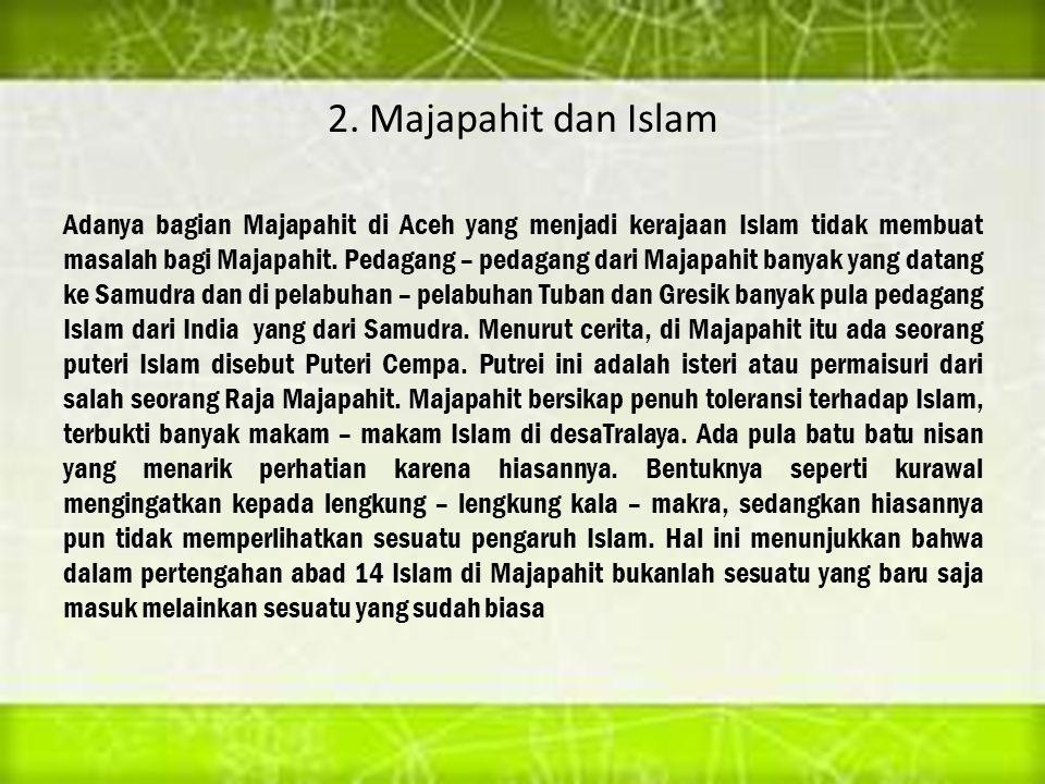 2. Majapahit dan Islam