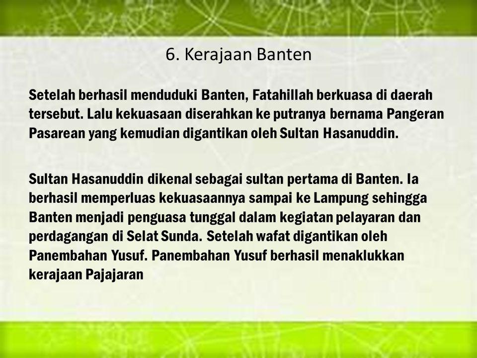 6. Kerajaan Banten