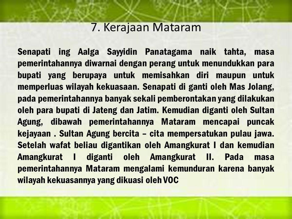 7. Kerajaan Mataram