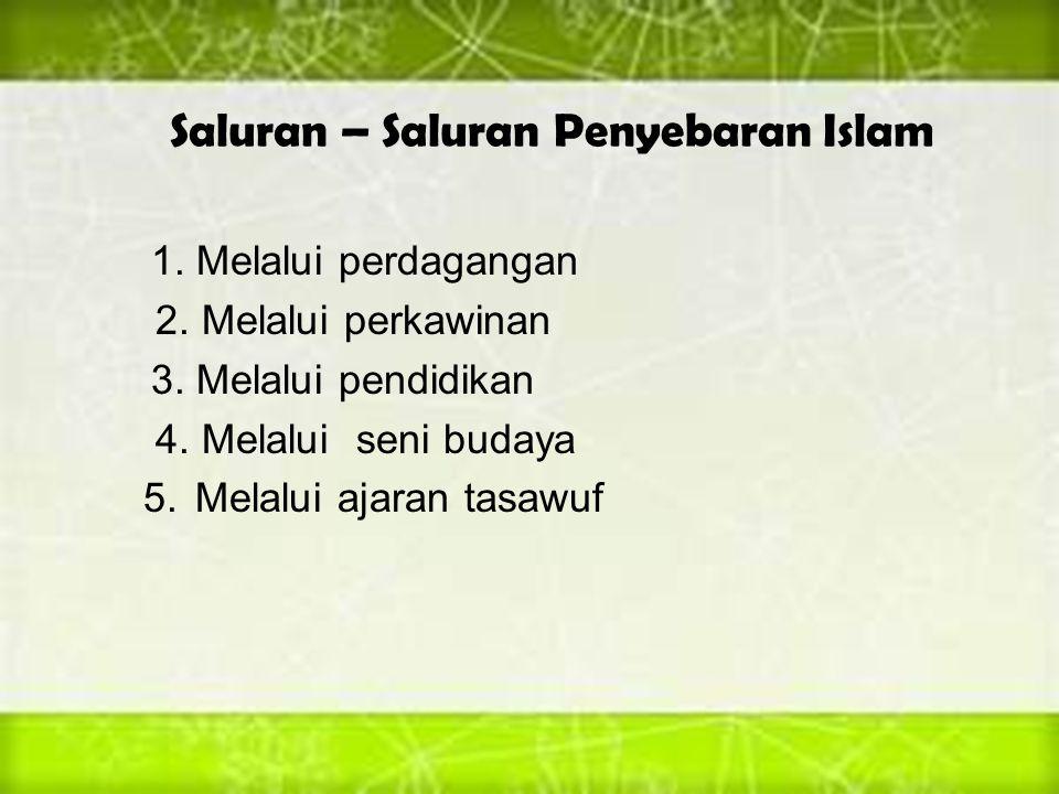 Saluran – Saluran Penyebaran Islam