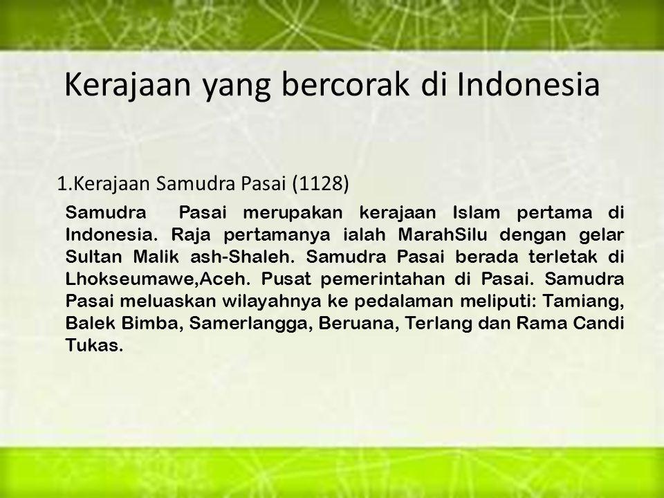 Kerajaan yang bercorak di Indonesia