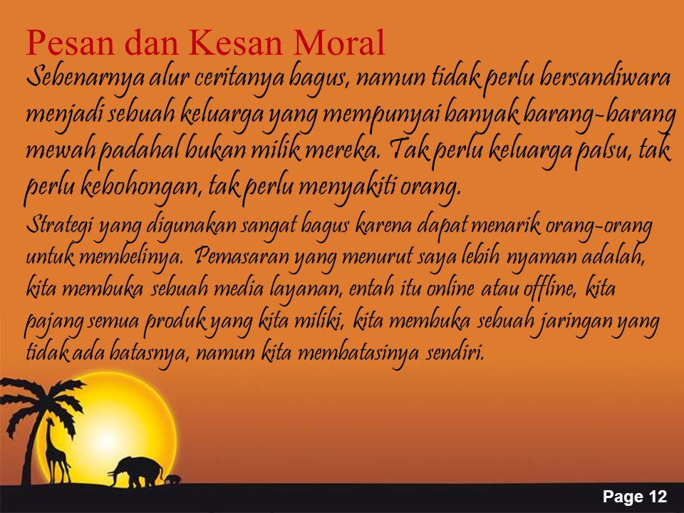 Pesan dan Kesan Moral