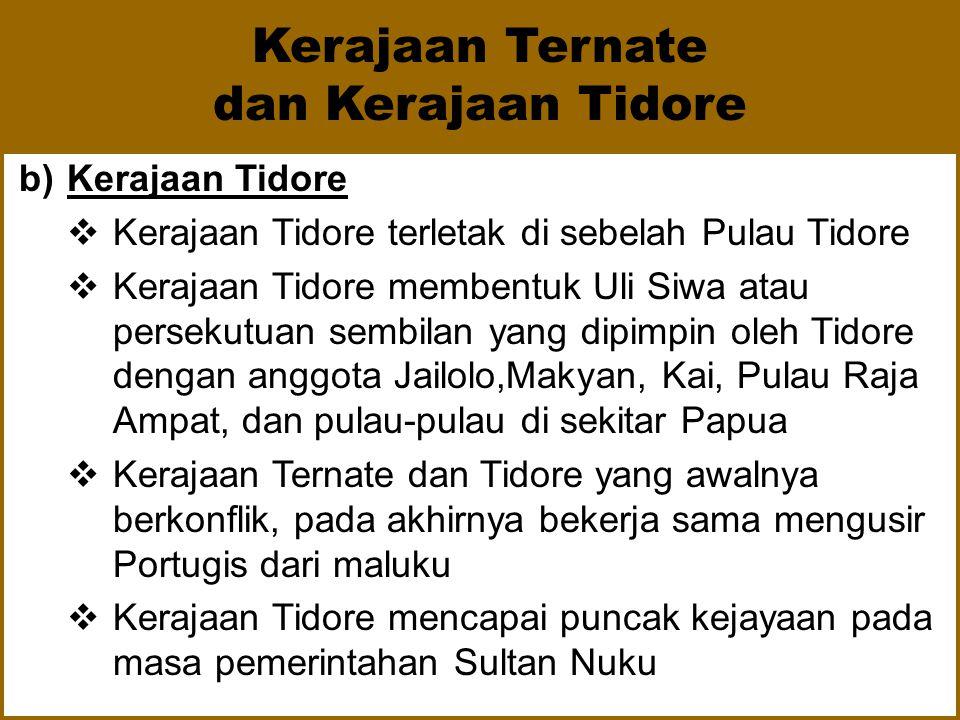 Kerajaan Ternate dan Kerajaan Tidore