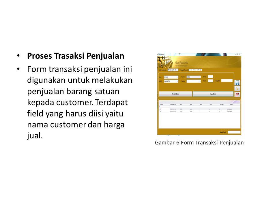 Gambar 6 Form Transaksi Penjualan