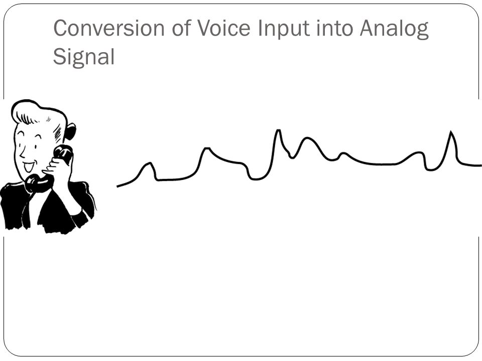 Conversion of Voice Input into Analog Signal