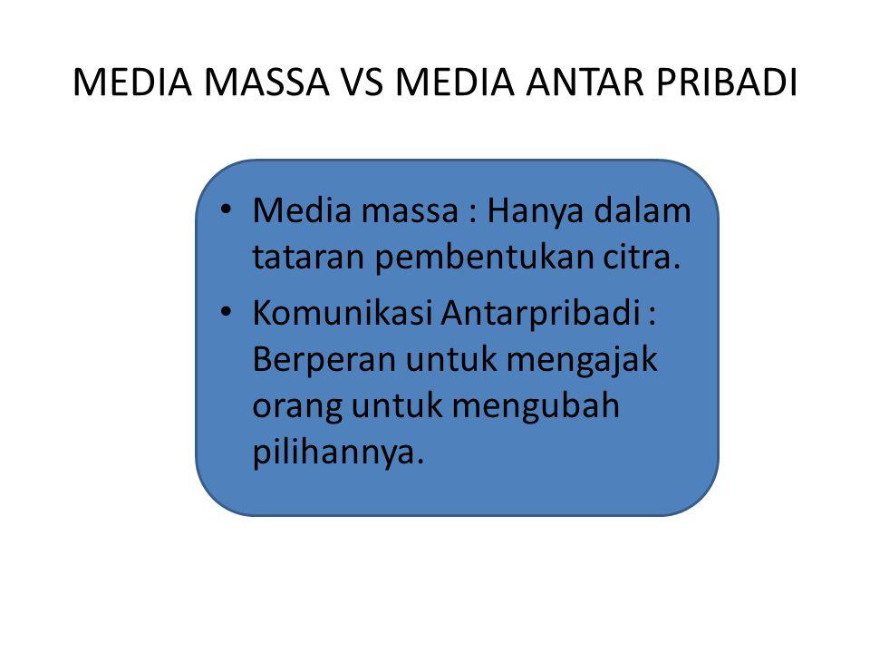 MEDIA MASSA VS MEDIA ANTAR PRIBADI