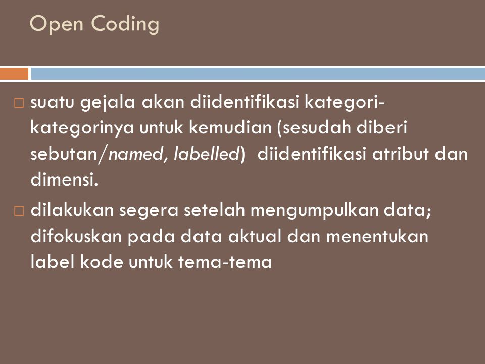 Open Coding