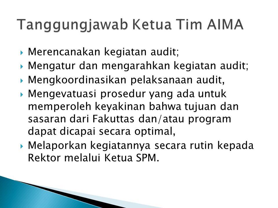 Tanggungjawab Ketua Tim AIMA