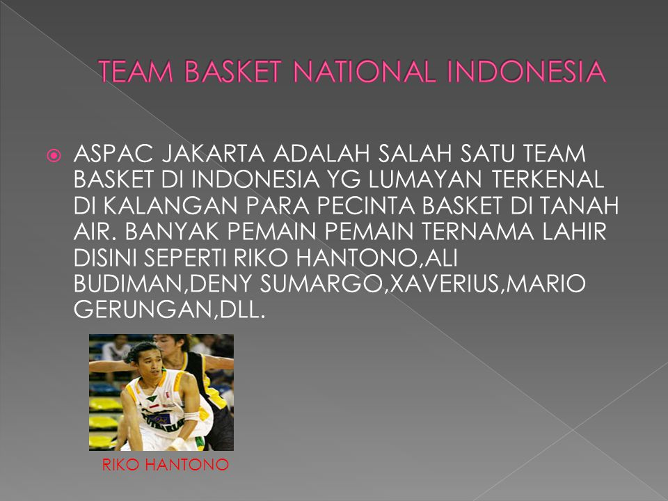TEAM BASKET NATIONAL INDONESIA