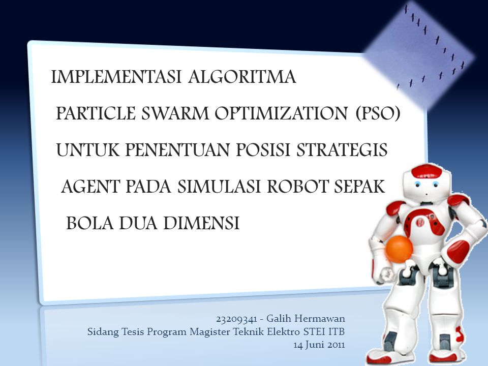 IMPLEMENTASI ALGORITMA PARTICLE SWARM OPTIMIZATION (PSO)