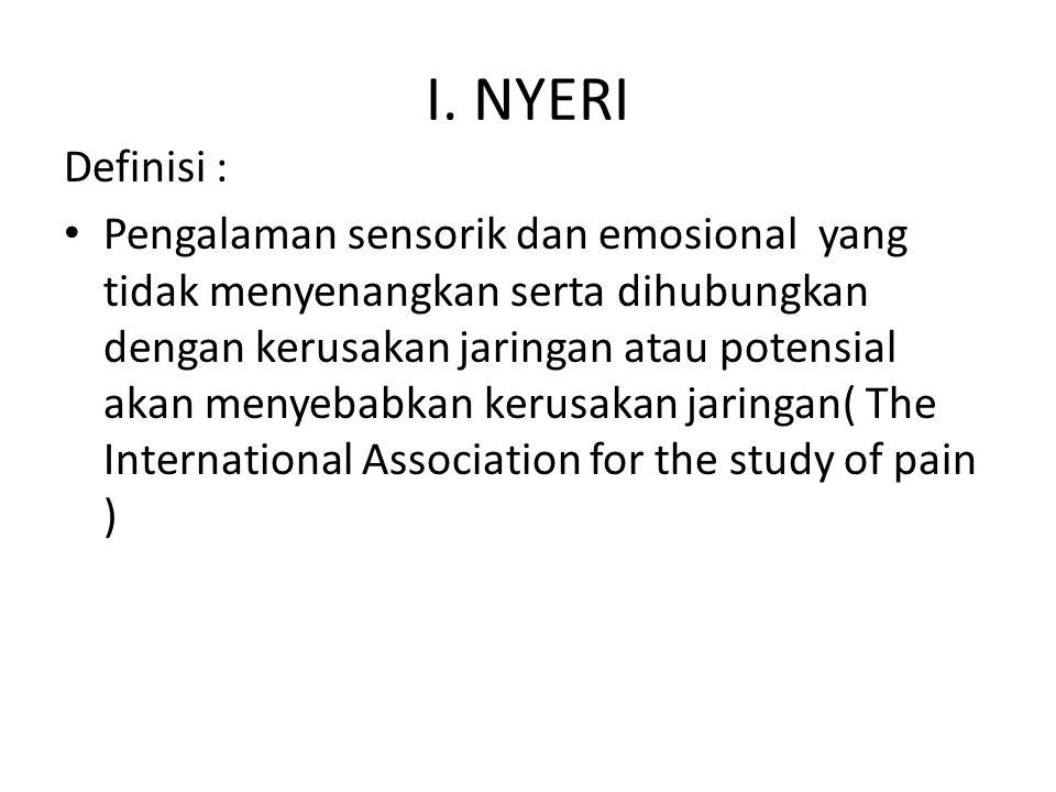 I. NYERI Definisi :