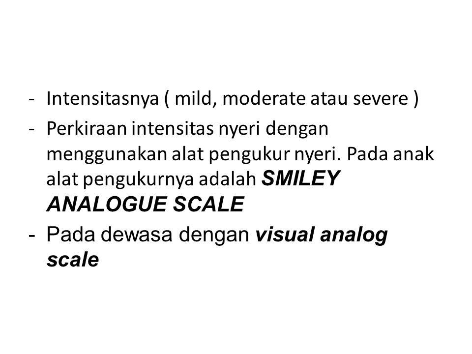 Intensitasnya ( mild, moderate atau severe )