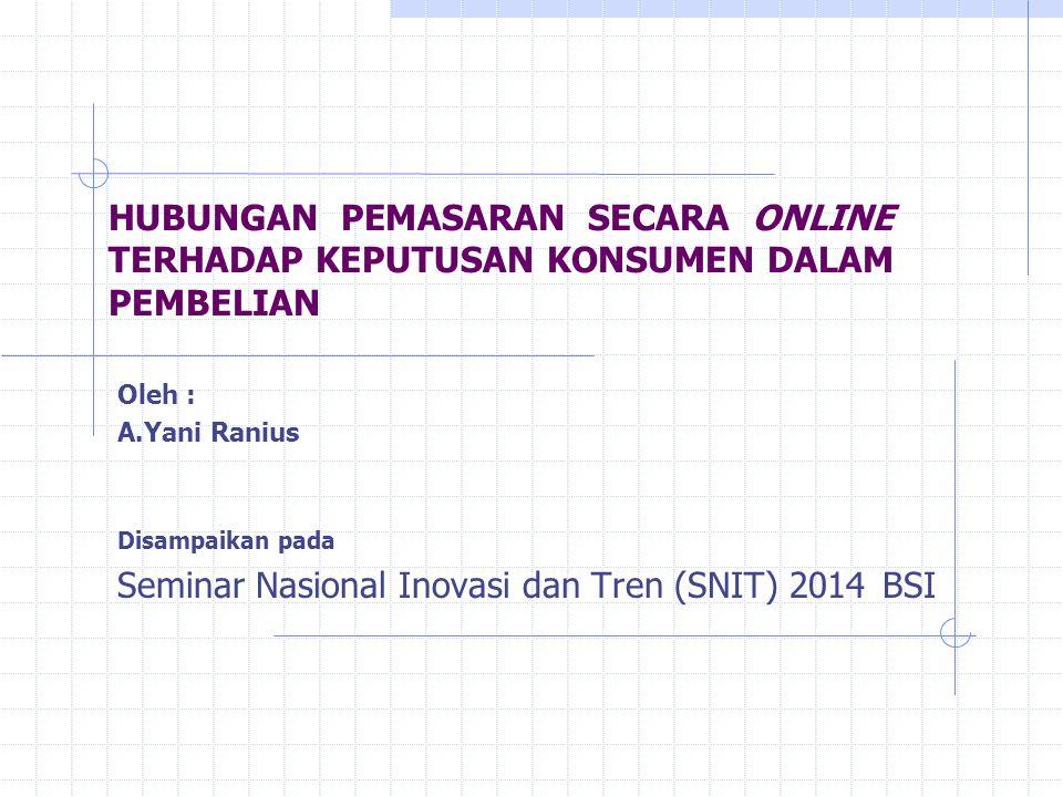 Seminar Nasional Inovasi dan Tren (SNIT) 2014 BSI