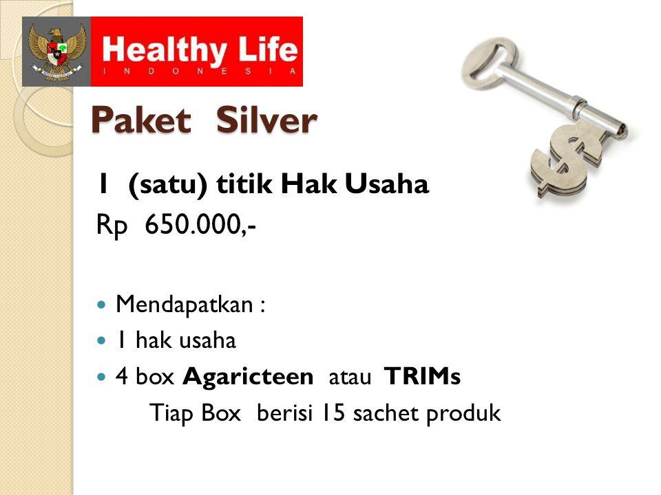 Paket Silver 1 (satu) titik Hak Usaha Rp 650.000,- Mendapatkan :