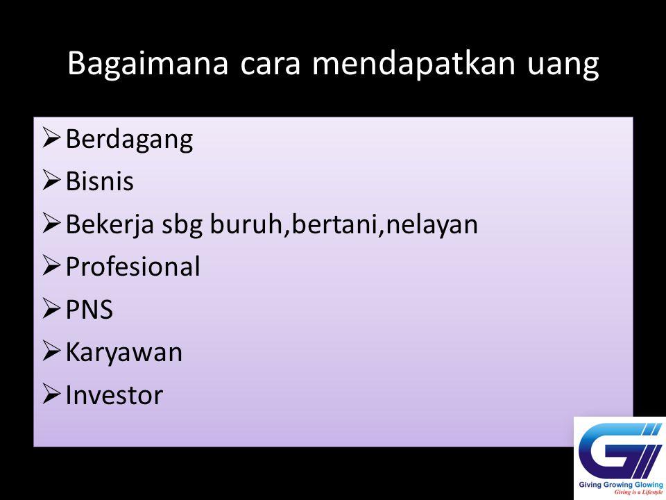 Bagaimana cara mendapatkan uang