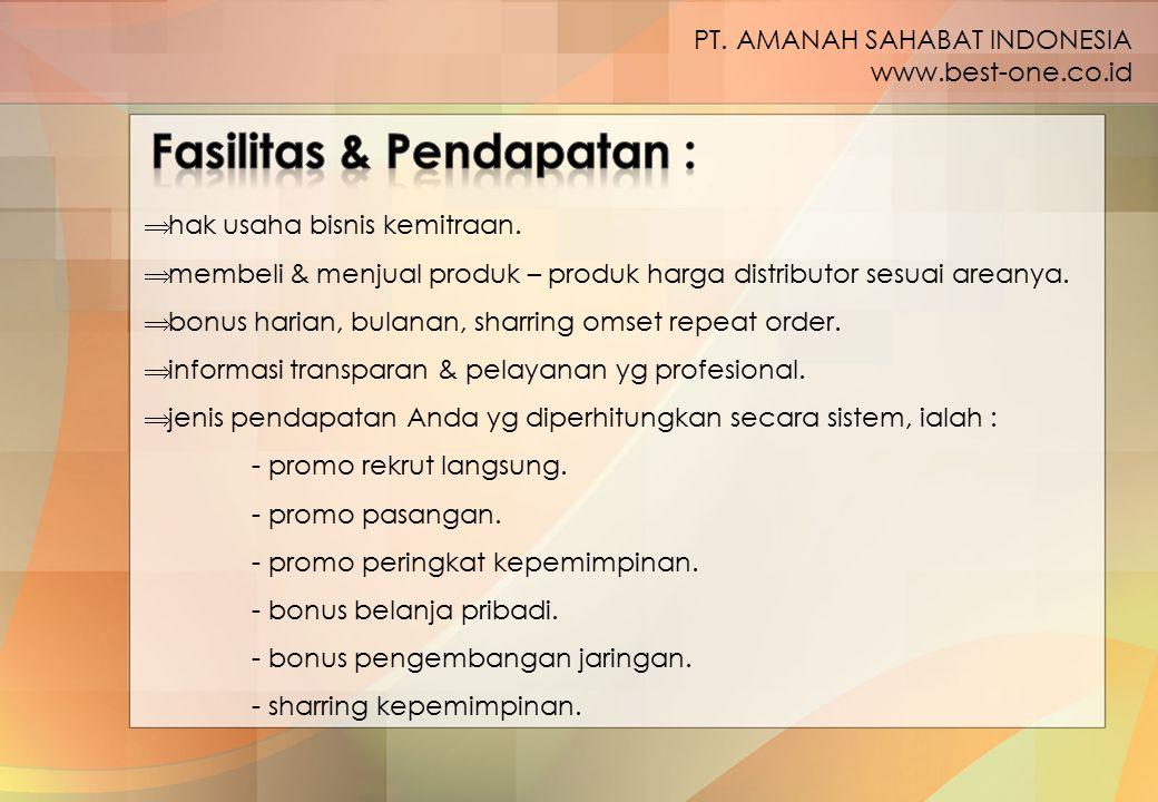 Fasilitas & Pendapatan :