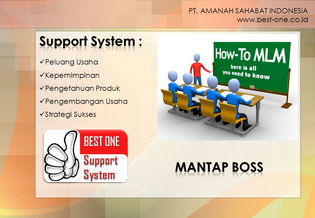 Support System : MANTAP BOSS PT. AMANAH SAHABAT INDONESIA