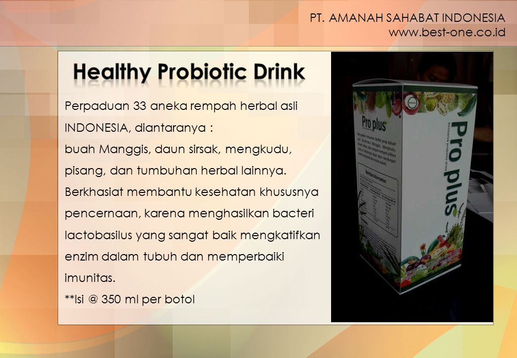 Healthy Probiotic Drink