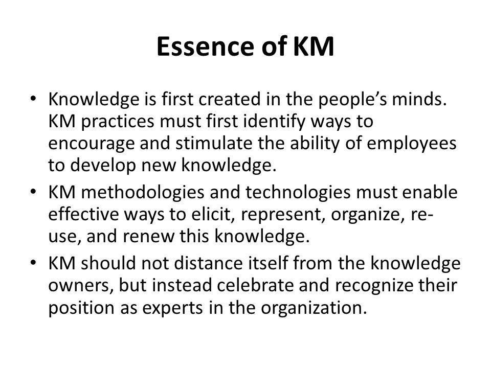 Essence of KM