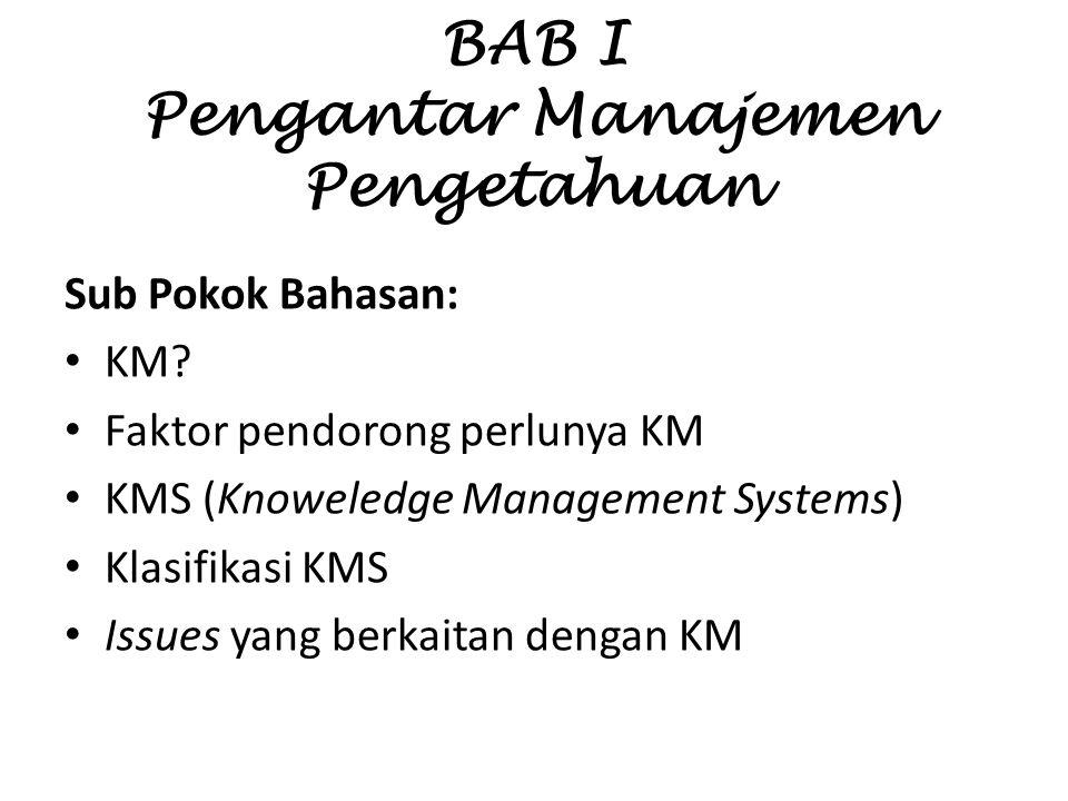 BAB I Pengantar Manajemen Pengetahuan