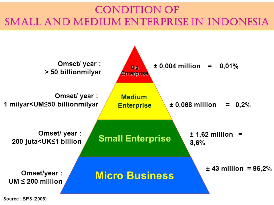CONDITION OF SMALL AND MEDIUM ENTERPRISE IN INDONESIA