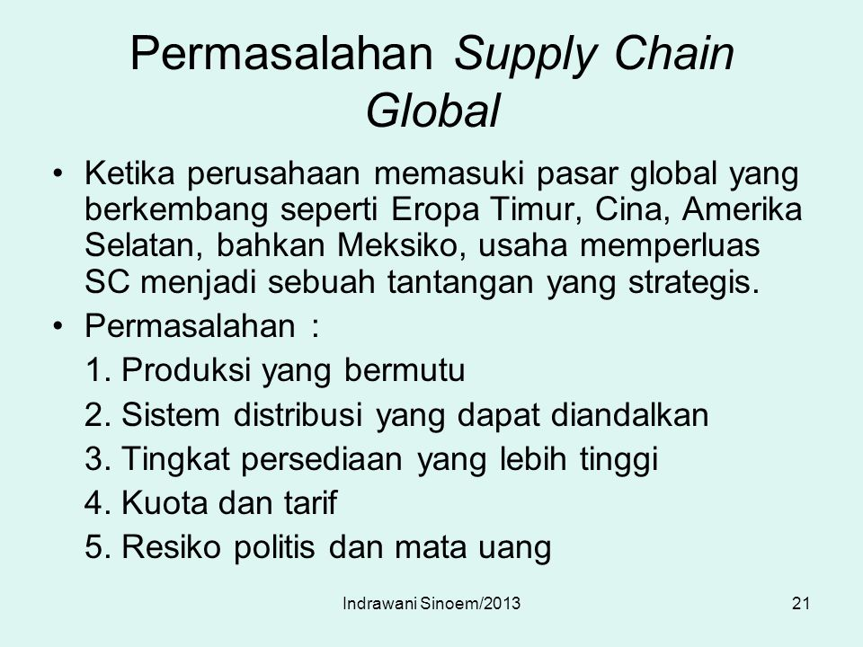 Permasalahan Supply Chain Global