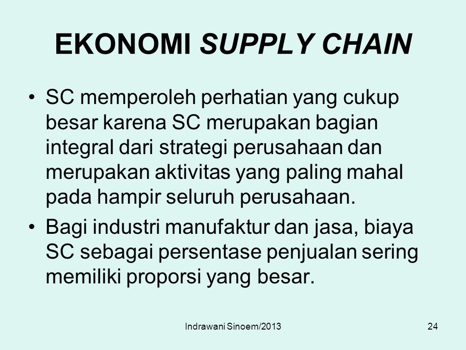 EKONOMI SUPPLY CHAIN