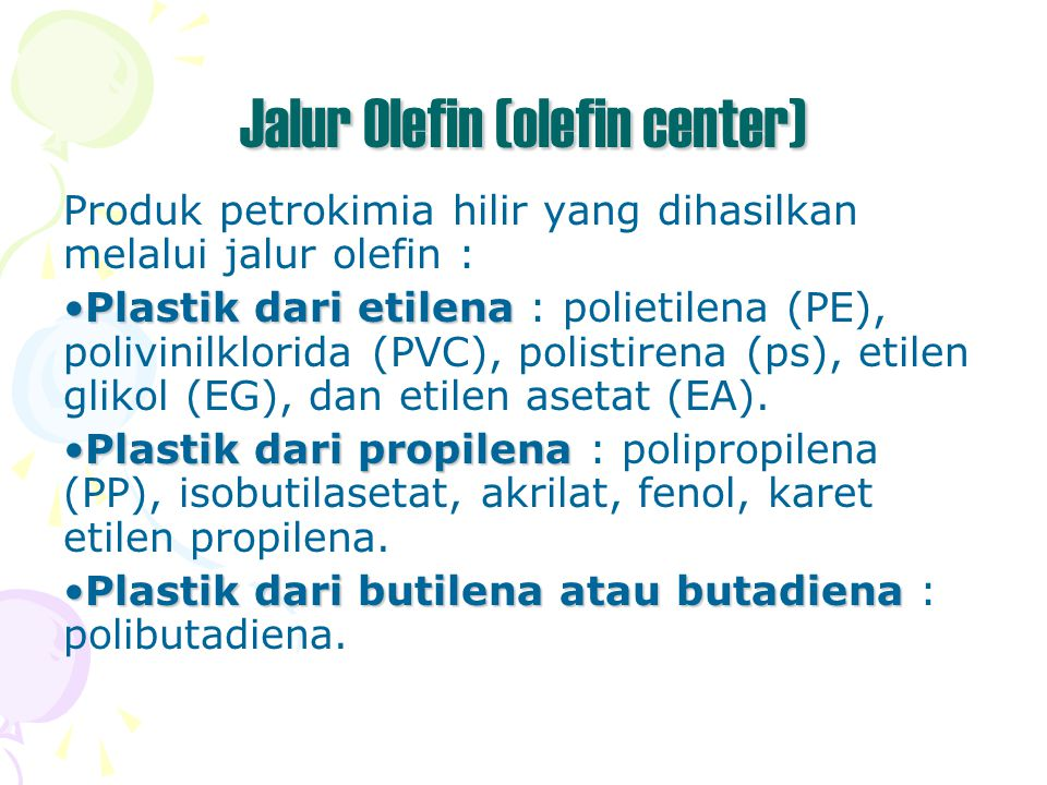 Jalur Olefin (olefin center)