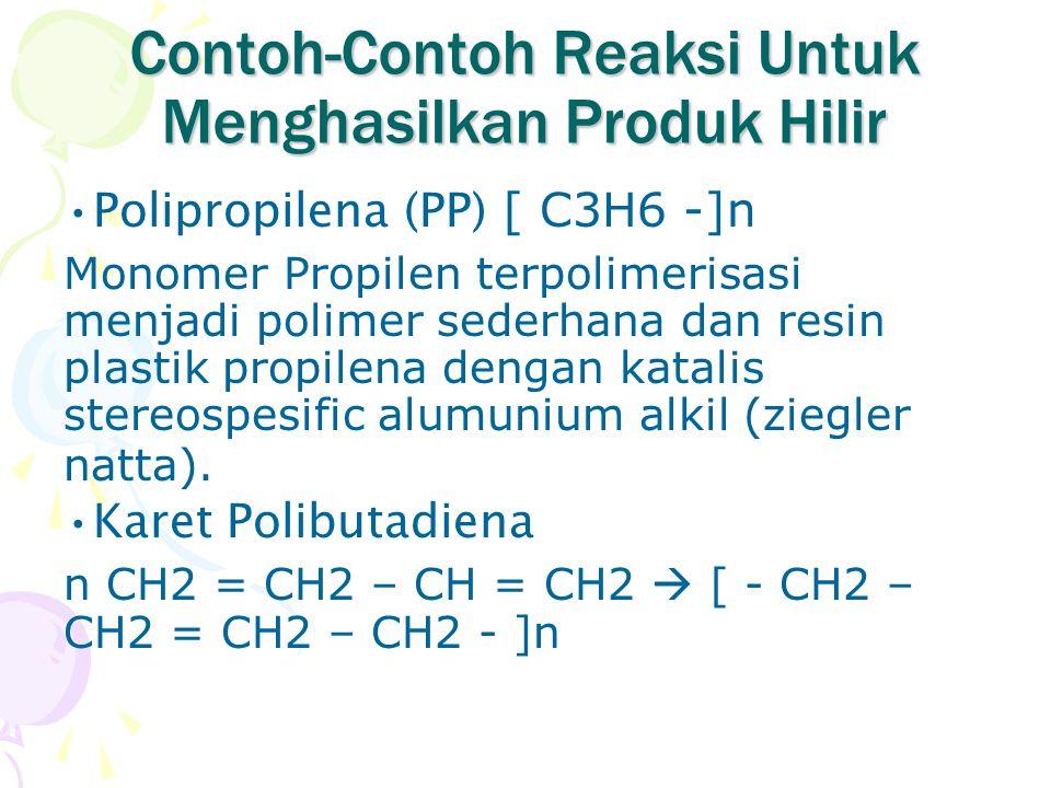 Contoh-Contoh Reaksi Untuk Menghasilkan Produk Hilir