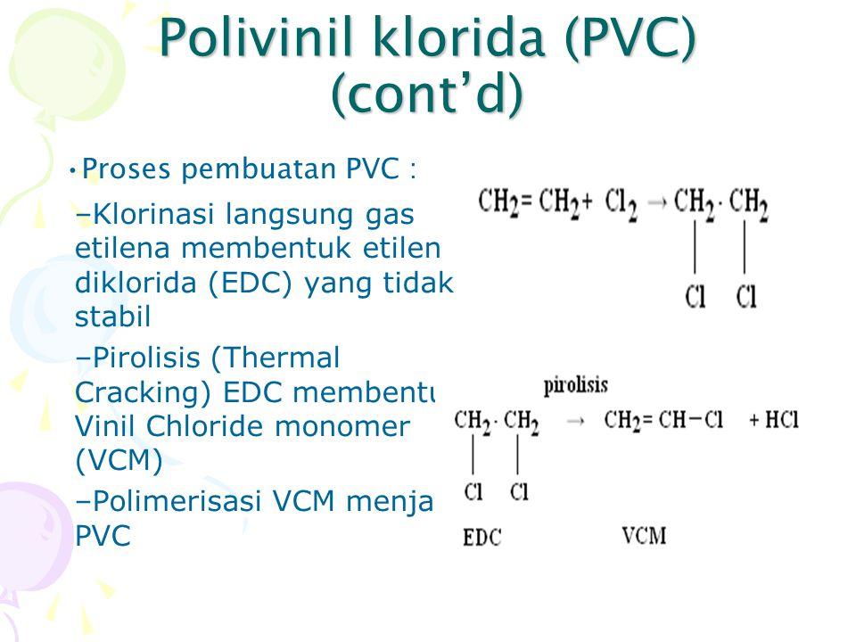 Polivinil klorida (PVC) (cont'd)
