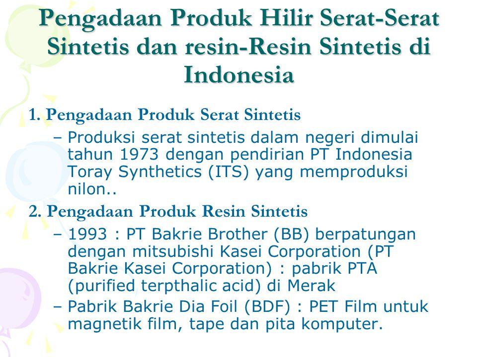 Pengadaan Produk Hilir Serat-Serat Sintetis dan resin-Resin Sintetis di Indonesia